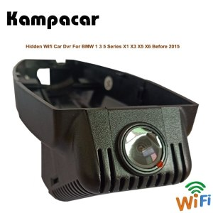 Kampacar Car Wifi DVRs With Two Cameras For BMW X1 E84 F48 X3 E83 F25 G01 X5 E70 1 3 5 Series Before 2015 Cars Dash Cam Camera