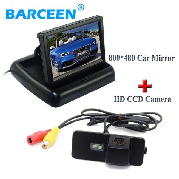 "4.3"" car screen monitor hd 800*480 +auto car reserve camera for Volkswagen VW Magotan PASSAT CC /Golf 5/ POLO hatchback / Jetta"