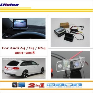 "Liislee For Audi A4 / S4 / RS4 2001~2008 - Car Backup Rear Camera + 4.3"" TFT LCD Screen Monitor = 2 in 1 Rearview Parking System"