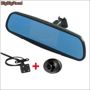 BigBigRoad For ford E350 For Trumpchi GA6 GA5 GA3 GS4 Dual Lens Car DVR Video Recorder rearview mirror Dash Cam Parking Monitor