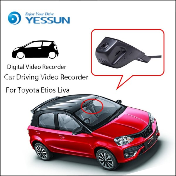 YESSUN Car DVR Digital Driving Video Recorder for Toyota Etios Liva Front Dash Camera Front CAM HD 1080P