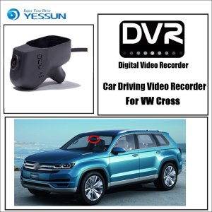 YESSUN for Volkswagen Cross Car DVR Driving Video Recorder Mini Control APP Wifi Camera FHD 1080P Registrator Dash Cam