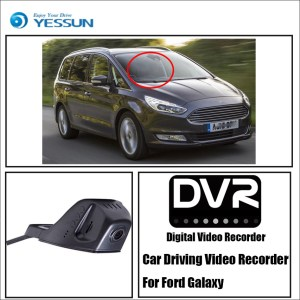 YESSUN Car Front Dash Camera CAM DVR Driving Video Recorder for Ford Galaxy For iPhone Android APP Control Function