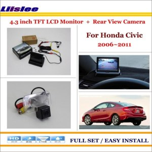 "Liislee For Honda Civic 2006-2011 Car Rearview Camera + 4.3"" LCD Screen Monitor = 2 in 1 Parking Assistance System"