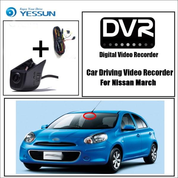 YESSUN for Nissan March Car DVR Mini Wifi Camera Driving Video Recorder Registrator Dash Cam Night Vision