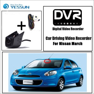 YESSUN for Nissan March Car DVR Mini Wifi Camera Driving Video Recorder Registrator Dash Cam Night Vision