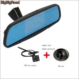 BigBigRoad Car DVR Dash Cam night vision Blue Screen Dual Lens video registrator For honda S1 XRV XR-V / For Renault