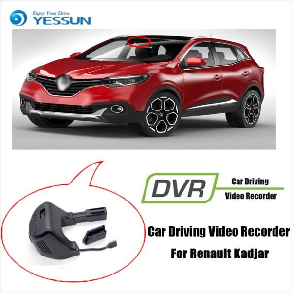 YESSUM for Renault Kadjar Car Driving Video Recorder DVR Control Wifi Camera Registrator Dash Cam Original Style
