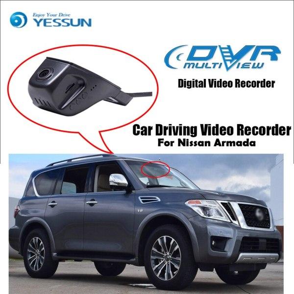 YESSUN for Nissan Armada Car Driving Video Recorder Wifi DVR Mini Camera Novatek 96658 FHD 1080P Dash Cam Night Vision