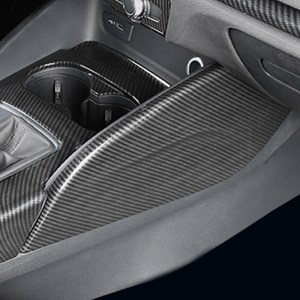 ABS carbon fiber center console both side water cup panel cover trim sticker car accessories for Audi A3 S3 RS3 8V 2014-2018