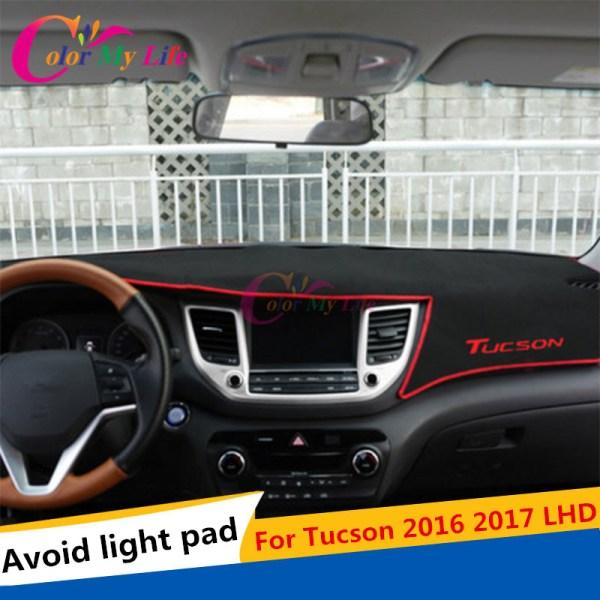Car Dashboard Carpet Protective Pad Interior For Hyundai Tucson 3rd 2016 2017 LHD Summer Accessories Car Styling