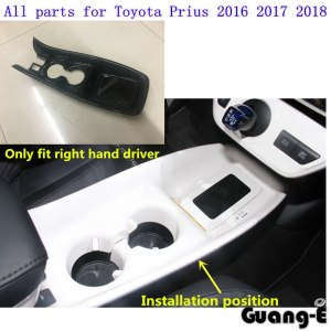 Car Stick ABS Armrest Glove Stall Paddle Cup Switch Knob Frame Lamp Trim Panel Moulding 1pcs For Toyota Prius 2016 2017 2018