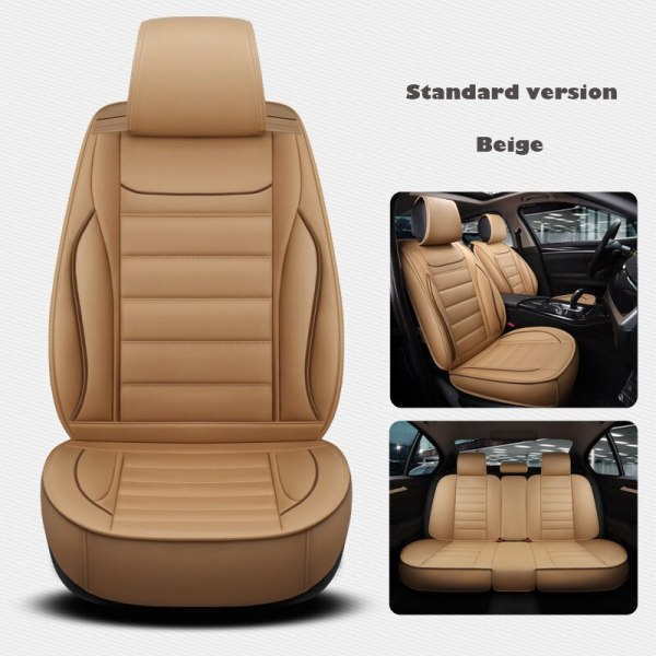 Leather Universal car seat cover for renault armrest capture clio 4 duster fluence kadjar kaptur koleos car accessories styling