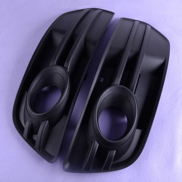 Car Front Bumper Vent Grill Fog Light Grille Cover Plastic Black 8R0 807 681 A/8R0 807 682 A Fit For AUDI Q5 2009 2010 2011 2012