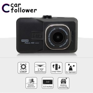Full HD 1080P Car DVR 3.0 Inch IPS Screen Car Camera Dual Lens Dash Cam Video Recorder Night Vision G-sensor Registrator