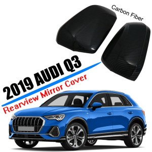 Car Styling Fit for 2019 2020 Audi Q3 Sedan Sideview Rearview Mirror Cover Trim Cover ABS Plastic Carbon Fiber Car Accessories
