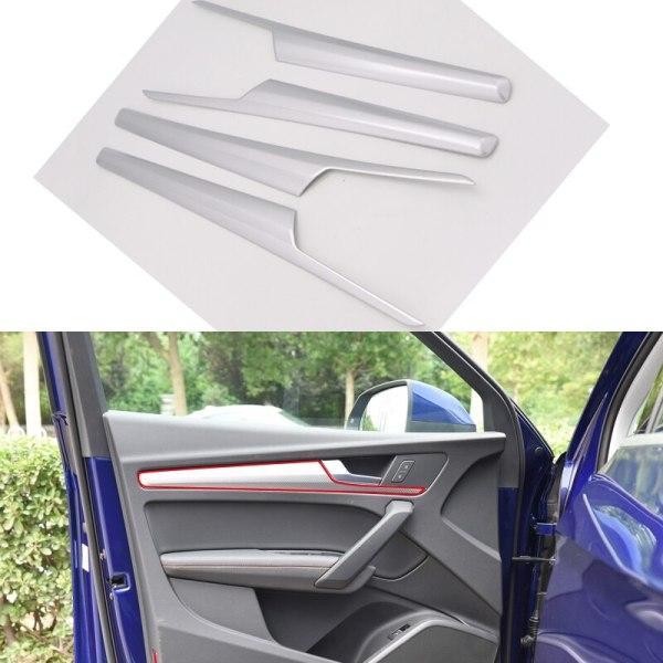 For Audi Q5 2018 ABS Plastic Interior Car Door Armrest Decoration Strips Cover Trim 4pcs Car Styling