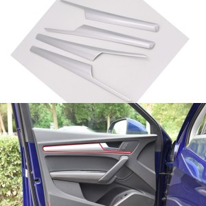 For Audi Q5 2018 ABS Plastic Interior Car Door Armrest Decoration Strips Cover Trim 4pcs Car Styling