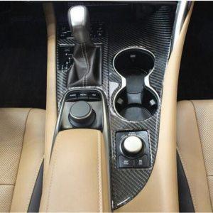 Lapetus Gear Shift Box Panel + Water Cup Holder Molding Cover Trim Carbon Fiber Fit For Lexus RX200T RX450H 2016 2017 2018 2019