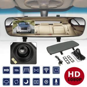 2.4'' 720P HD Rearview Smart Mirror Camera Monitor Dashboard Cam DVR Recorder