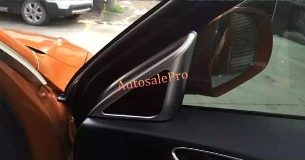 ABS Matt Dashboard Upper Front A-Pillar Inner Door Stereo Speaker Cover trim 2pcs For Audi Q3 2012-2015