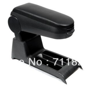 Center Console Armrest Leather Black For Volkswagen For VW Polo 9N Polo 9N3
