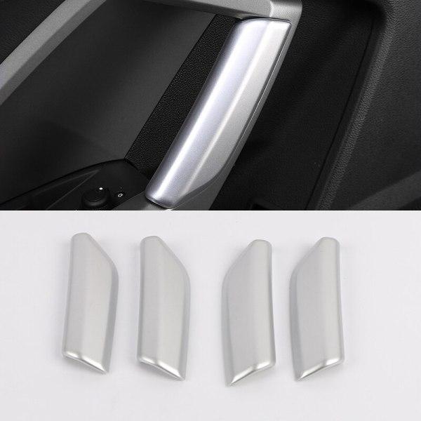 Car Styling Accessories 4PCS ABS Plastic Interior Armrest Handle Decorative Cover Trim For Audi Q3 2019 2020