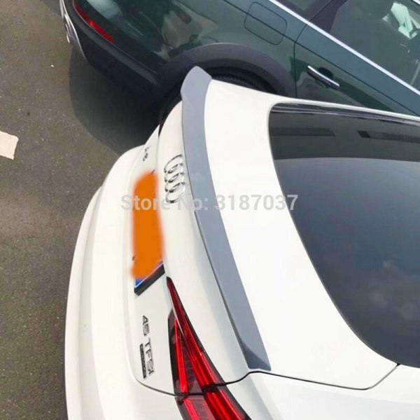 For Audi A5 S5 Spoiler 4- doors 2015-2018 ABS Plastic Unpainted Color Rear Roof Spoiler Wing Trunk Lip Boot Cover Car Styling