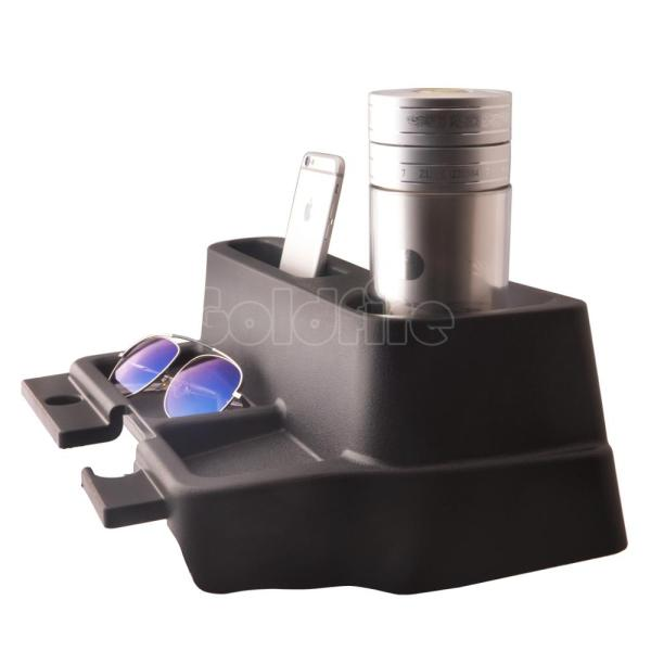Black ABS Armrest Storage Box Floor Center Console Tray Cup Holder Fit for Toyota Land Cruiser LC70 LC71 LC76 LC77 LC79