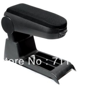 Center Console Armrest Cloth Black For Volkswagen For VW Polo 9N 9N3