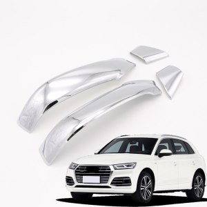 For Audi Q5 2018 Outer Side Door Rear View Mirror Cover Strip Trim Decoration ABS Chrome 4pcs car-styling accessories