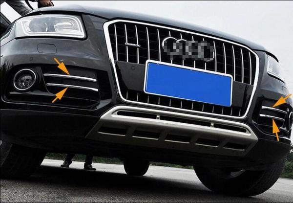 Chromed ABS Plastic 4PCS Front Fog Light Lamp Cover Styling Trim For Audi Q5 2009 2010 2011 2012 2013 2014 2015
