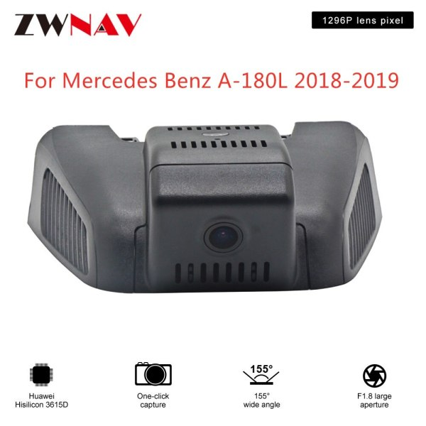 Hidden Type HD Driving recorder dedicated For Mercedes Benz A-180L 2018-2019 DVR Dash cam Car front camera WIfi