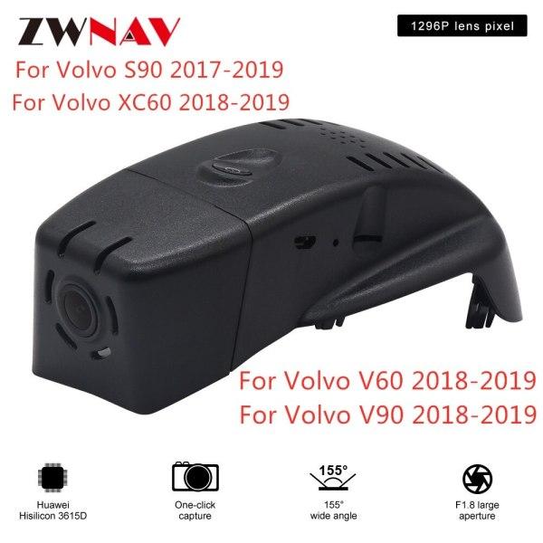 Hidden Type HD Driving recorder dedicated For Volvo S90 XC60 V60 V90 DVR Dash cam Car front camera WIfi