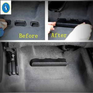 Yimaautotrims Auto Accessory Seat Under Air Conditioning AC Outlet Dust Plug Grille Cover Fit For Audi Q7 2016 - 2019 Plastic