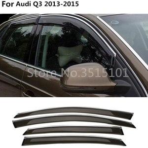 car cover Stick lamp plastic Window glass Wind Visor Rain/Sun Guard Vent 4pcs For Audi Q3 2013 2014 2015