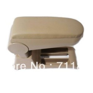 Leatherette Center Console Armrest For Volkswagen VW Polo 9N 9N3 Beige Color