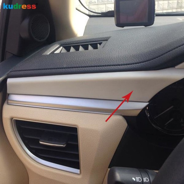 For Toyota Corolla 2014 ABS Matte Car Styling Decorative Interior Front Center Console Cover Trim Auto Parts Accessories 4pcs