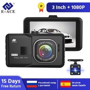 E-ACE B03 Mini Car DVR 3 Inch FHD 1080P Dual Camera Lens 170D Angle Video Recorder Camcorder Dash Cam Registrator Night Version