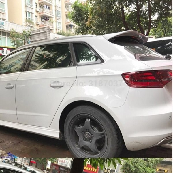 For Audi A3 Spoiler 2015-2018 ABS Plastic Unpainted Color Rear Roof Spoiler Wing Trunk Lip Boot Cover Car Styling