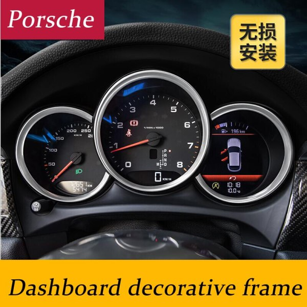 Car-styling interior dashboard decorative cover frame strip 3D sticker for Porsche Macan Cayman Boxster 911 Panamera cayenne
