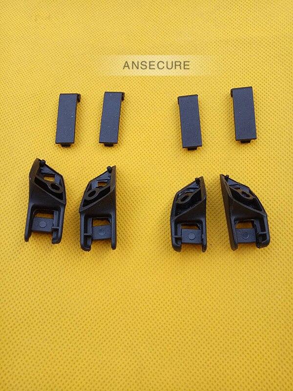 SET Rear door window Visor Sun shade curtain clip Bracket cover for audi A6 C6 avant S6 RS6 2006-2011