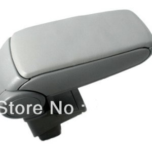 Center Console Armrest Grey Leather For Honda Jazz First Generation 2001-2008