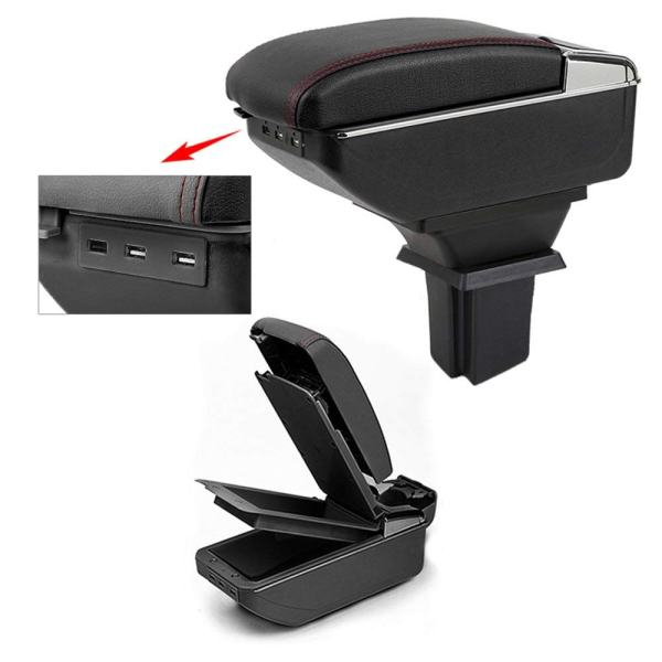 Car Armrest Box Cover Auto Seat Central Double Storage Space with USB Charge Organizer Interior Car Styling for Chevrolet