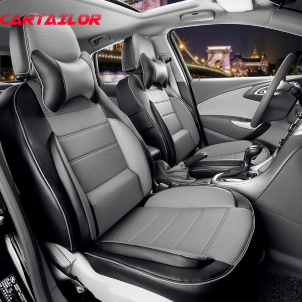 CARTAILOR Interior Accessories fit for Jeep Cherokee 2014 2015 PU leather Automobiles Seat Covers New Car-styling Seat Cover Set