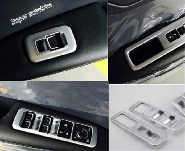 Lapetus Inside Door Handle Panel Surround Window Lift Switch Trim Interior Fit For Lexus RX200t RX450h 2016 2017 2018 2019 / ABS