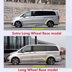 FIT For Mercedes-Benz V-Class Metris W447 2014-2018 ABS Accessories Exterior Car Door Body Molding Streamer Lid Trim 7PCS