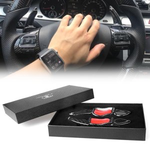 Real Carbon Fiber Steering Wheel Paddle Shift Extension For Volkswagen MK5 MK6 GTI R20 R32 R36 CC Scirocco Auto Car Accessories