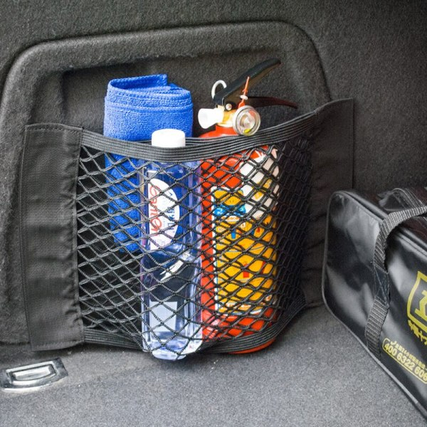 Car Trunk Storage Mesh Bag For Audi A4 B6 B8 Passat B5 B7 Skoda Octavia A7 A5 Renault Megane 2 3 Ford Focus mk2 Lada