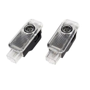 LED Car Logo Projector Light Door Welcome Lights For Audi A4 B5 B6 B7 B8 B9 A5 A6 C5 C6 C7 A3 8V 8P 8L V8 80 100 200 90 Q3 Q5 Q7